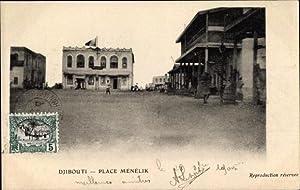 Ansichtskarte / Postkarte Djibouti Dschibuti, Place Ménélik,