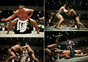 Ansichtskarte / Postkarte Sumoringer im Kampf, Wrestling,