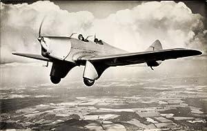 Ansichtskarte / Postkarte Britisches Kampfflugzeug, Schulflugzeug Miles