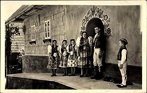 Ansichtskarte / Postkarte Tschechoslowakei, Ceske narodni kroje,