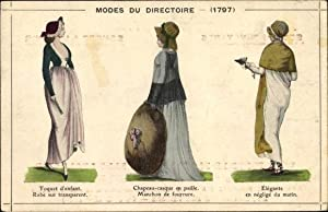 Ansichtskarte / Postkarte Modes du Directoire 1797,