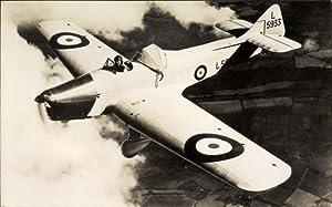 Ansichtskarte / Postkarte Britisches Militärflugzeug, Miles Magister,