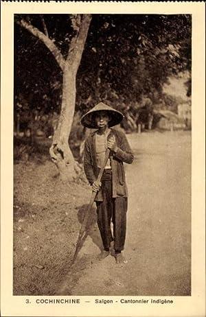 Ansichtskarte / Postkarte Saigon Cochinchine Vietnam, Cantonnier