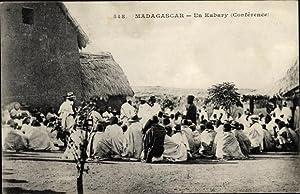 Ansichtskarte / Postkarte Madagaskar, Un Kabary, Conference,