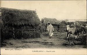 Ansichtskarte / Postkarte Casablanca Marokko, Gourbi arabe,