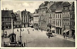 Ansichtskarte / Postkarte Ceska Lipa Namesti Tschechien,