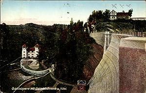 Ansichtskarte / Postkarte Marklissa Schlesien, Queistalsperre mit