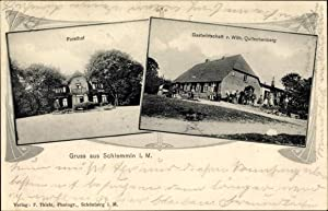 Jugendstil Ansichtskarte / Postkarte Schlemmin Bernitt bei