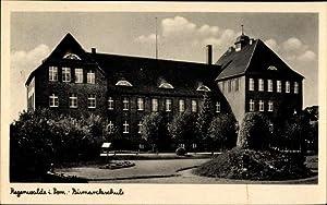 Ansichtskarte / Postkarte Resko Regenwalde Pommern, Bismarckschule,