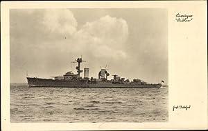 Ansichtskarte / Postkarte Deutsches Kriegsschiff, Kreuzer Köln,
