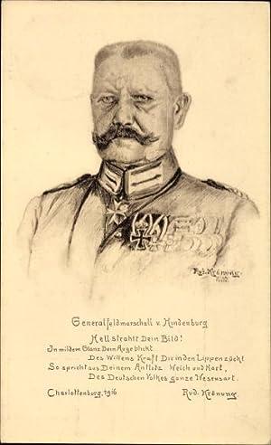 Künstler Ansichtskarte / Postkarte Krönung, Rud., Generalfeldmarschall
