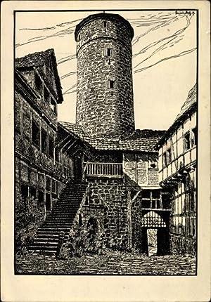 Künstler Ansichtskarte / Postkarte Werleshausen an der
