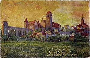 Künstler Ansichtskarte / Postkarte Kwidzyn Marienwerder Westpreußen,