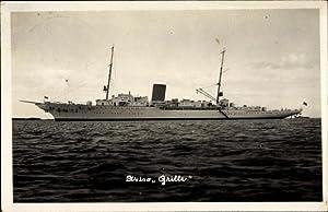 Foto Ansichtskarte / Postkarte Deutsches Kriegsschiff, Aviso
