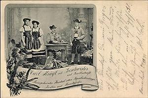 Ansichtskarte / Postkarte Carl Krügl mit Geschwister