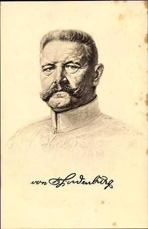 Künstler Ansichtskarte / Postkarte Generalfeldmarschall Paul von