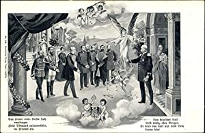 Künstler Ansichtskarte / Postkarte Kaiser Wilhelm I.,