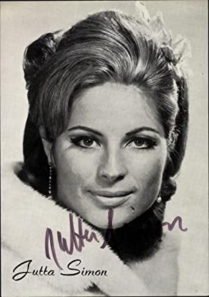 Ansichtskarte / Postkarte Schauspielerin Jutta Simon, Portrait,