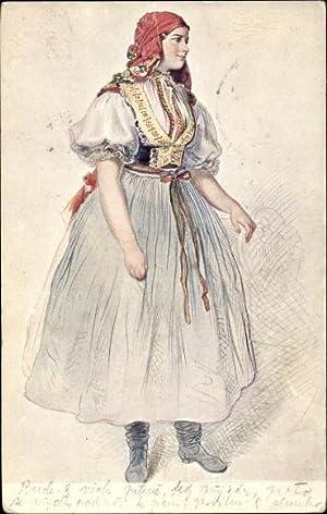 Künstler Ansichtskarte / Postkarte Manes, Josef, Devce