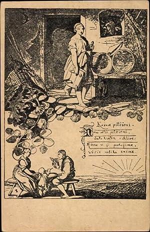 Künstler Ansichtskarte / Postkarte Manes, Josef, Narodni