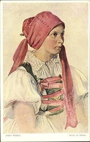 Künstler Ansichtskarte / Postkarte Manes, Josef, Portrait
