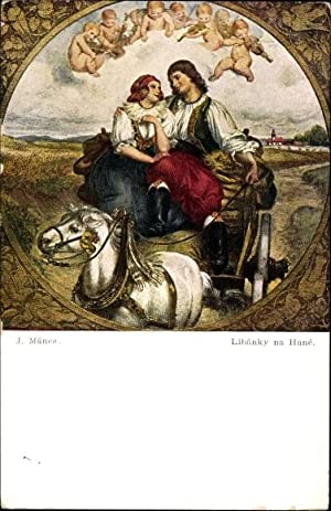 Künstler Ansichtskarte / Postkarte Manes, Josef, Liebespaar