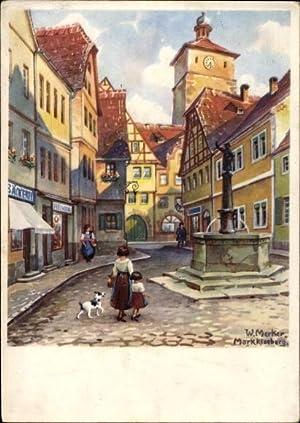 Künstler Ansichtskarte / Postkarte Merker, W., Markkleeberg