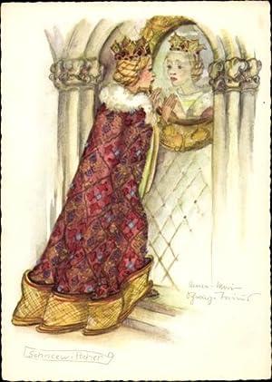 Künstler Ansichtskarte / Postkarte Schwarz Torinus, Anna