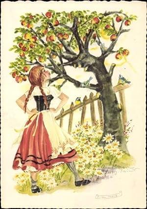 Künstler Ansichtskarte / Postkarte Schwarz-Torinus, Anna, Frau