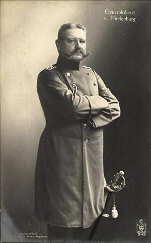 Ansichtskarte / Postkarte Generalfeldmarschall Paul von Hindenburg,