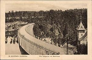 Ansichtskarte / Postkarte Marklissa Schlesien, Talsperre aus