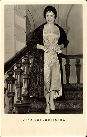 Ansichtskarte / Postkarte Schauspielerin Gina Lollobrigida, Portrait