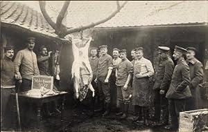 Foto Ansichtskarte / Postkarte Deutsche Soldaten mit