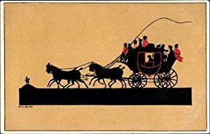 Scherenschnitt Ansichtskarte / Postkarte Baum, Dora, Renn-