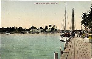Ansichtskarte / Postkarte Miami Florida USA, View