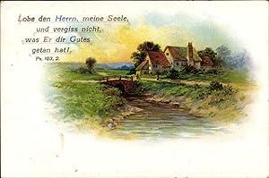 Ansichtskarte / Postkarte Lobe den Herrn meine
