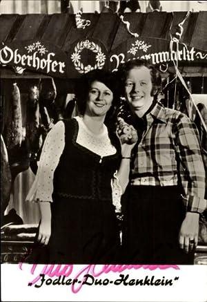 Ansichtskarte / Postkarte Jodler Duo Henklein auf