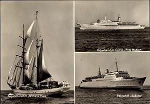 Ansichtskarte / Postkarte Segelschulschiff Wilhelm Pieck, GTMS