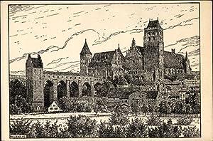 Künstler Ansichtskarte / Postkarte Lenz, W., Kwidzyn