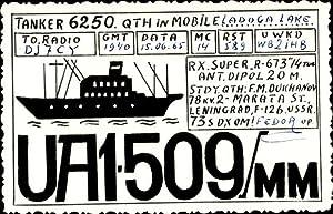 Ansichtskarte / Postkarte Tanker 6250, QTH in