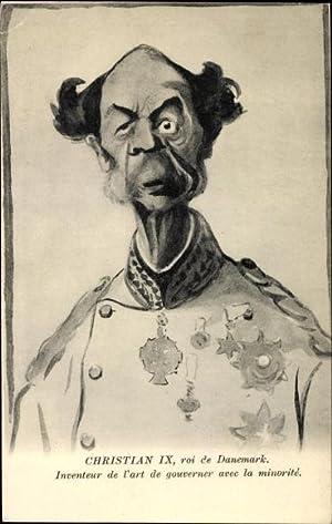 Künstler Ansichtskarte / Postkarte König Christian IX.
