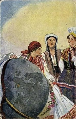 Künstler Ansichtskarte / Postkarte Bojnicic, Vjera, Oslobodjena