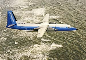 Ansichtskarte / Postkarte Passagierflugzeug, NLM CityHopper, PH-KFL,