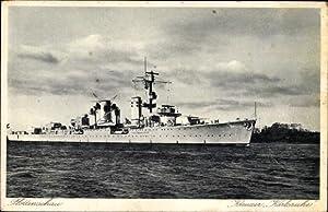 Ansichtskarte / Postkarte Deutsches Kriegsschiff, Kreuzer Karlsruhe,