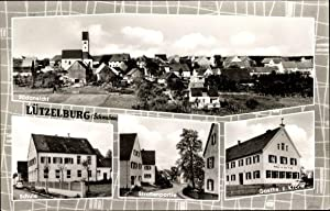 Passepartout Ansichtskarte / Postkarte Lützelburg Gablingen Schwaben,