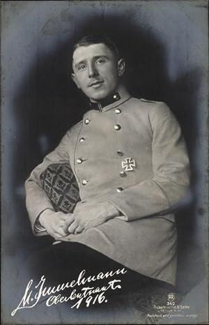 Ansichtskarte / Postkarte Jagdflieger Oberleutnant Max Immelmann,