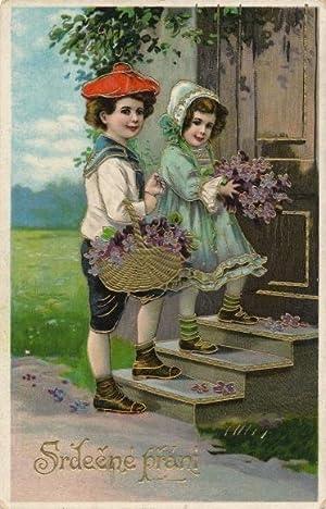 Ansichtskarte / Postkarte Glückwunsch, Srdecne prani, Junge