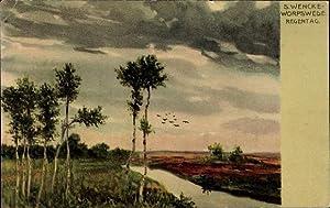 Künstler Litho Wencke, S., Worpswede in Niedersachsen,
