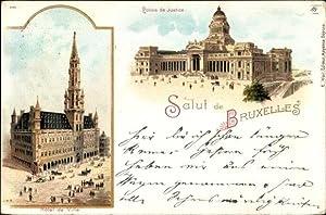 Litho Bruxelles Brüssel, Palais de Justice, Hotel