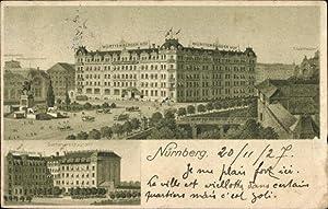 Litho Nürnberg Mittelfranken Bayern, Würrtemberger Hof, Inh.